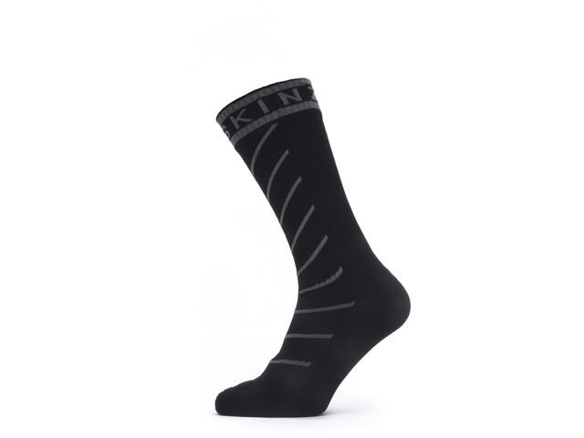 Sealskinz Waterproof Warm Weather Chaussettes mi-hautes avec Hydrostop, black/grey